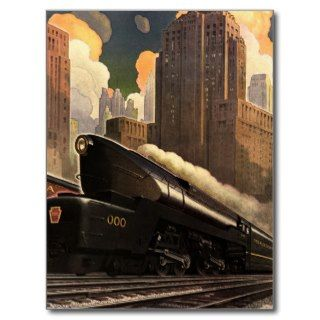 Pennsylvania Railroad Poster Post Card