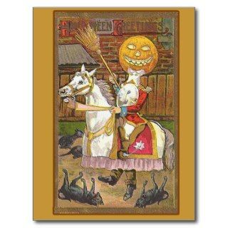 Headless Horseman Victorian Vintage Art Post Cards