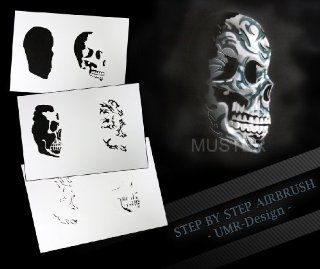 Step by Step Airbrush Schablone AS 103 M ca 13 cm x 10 cm: