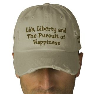 Pursuit of Happiness Distressed Chino Twill Cap Embroidered Baseball