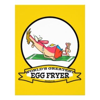 WORLDS GREATEST EGG FRYER SUNBURN MAN CARTOON PERSONALIZED FLYER