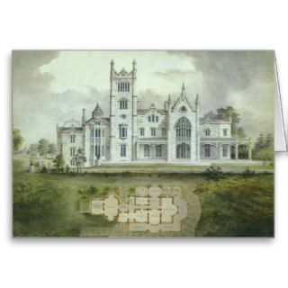 Vintage Architecture, French Chateau Floor Plans Greeting Card