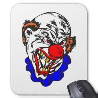 bald evil clown mouse mat