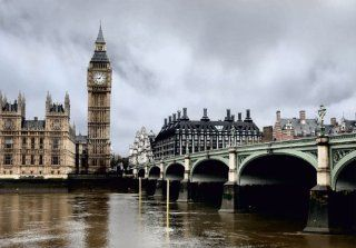 Fototapete VLIES Tapete London Big Ben Skyline England Foto 330 x 270