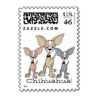 Cartoon Chihuahua 302   03 Postage Stamps