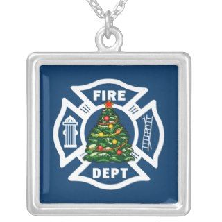 Christmas Fire Dept Necklaces