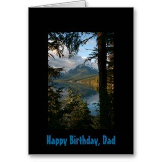 Happy Birthday, Dad, Glacial lake, mountain Card