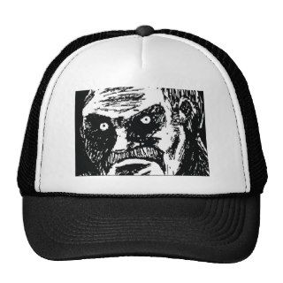 Angry Dark Stare Meme Face Trucker Hat