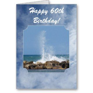 Happy 60th Birthday Card Sea