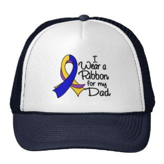 Dad   Bladder Cancer Ribbon Hats