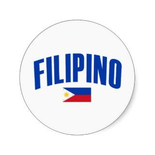 Filipino Philippine Flag Stickers