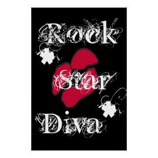 Rock Star Diva In Black Poster