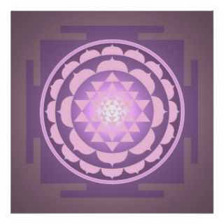 Sri Yantra Light Poster