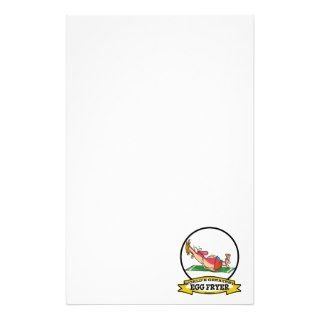 WORLDS GREATEST EGG FRYER SUNBURN MAN CARTOON CUSTOMIZED STATIONERY