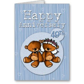 happy anniversary bears   49 year card
