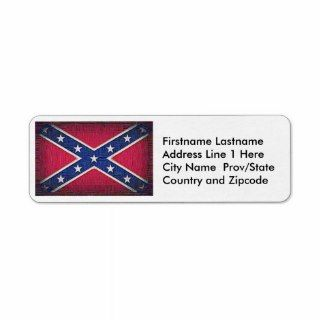 Redneck Confederate Flag   Woven Thread Style Return Address Label