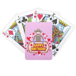 Happy Birthday Monkey. Bicycle Card Decks