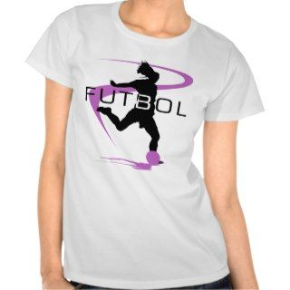 Soccer Futbol Pink Girls T Shirt