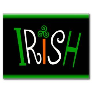 Irish With Triskelion Celtic Symbol And Background Postcards