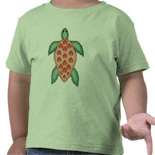 Sea Turtle Cross Stitch Pattern Tee Shirt