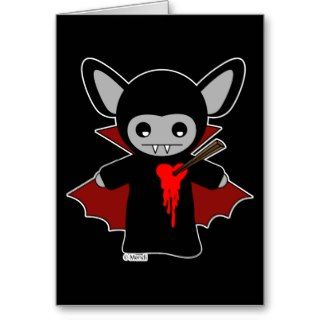 Cute Lil Vampire Bat Greeting Card
