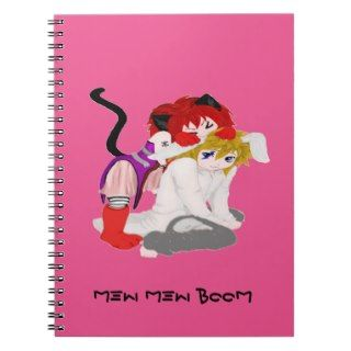 Pinky Cat and Rabbit Notebook
