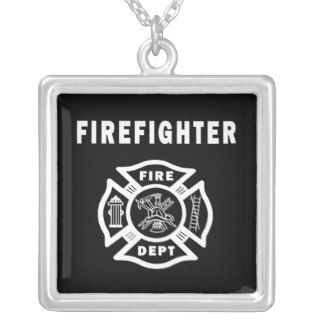 Fire Fighter Maltese Necklaces