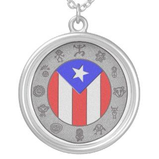 Taino Wheel Personalized Necklace