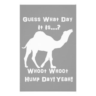 White Hump Day Camel Stationery