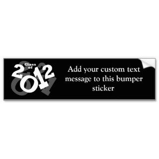 Playful Numbers, Class of 2012 Graduation Design Bumper Sticker