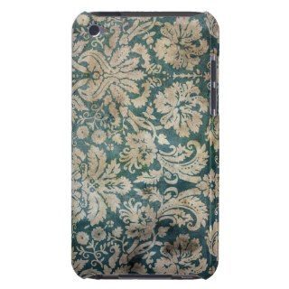 Vintage Green and Brown Damask Pattern Background iPod Touch Case Mate