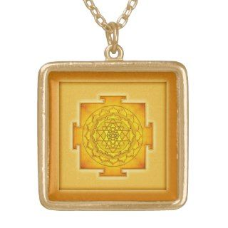 Golden Sri Yantra III Pendants