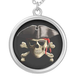 The Jolly Roger Pirate Skull Custom Necklace