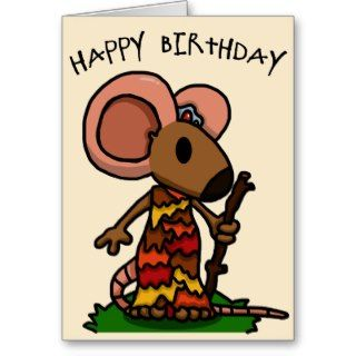 Mouse Mage Birthday Card