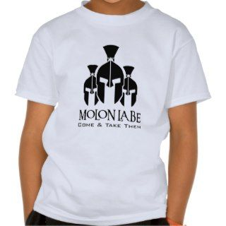 MOLON LABE Triple Threat words T Shirts