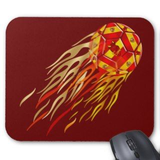Spanish Fireball soccer futbol lovers soccer ball Mouse Pad