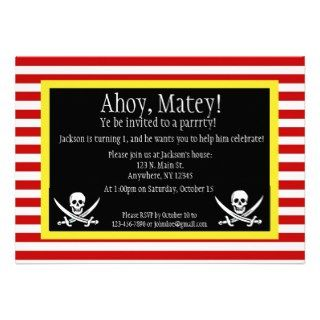 Pirate Jolly Roger Birthday Invitation