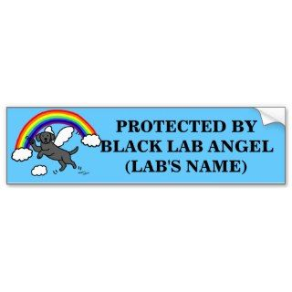 Black Labrador Guardian Angel (Rainbow Bridge) Bumper Sticker