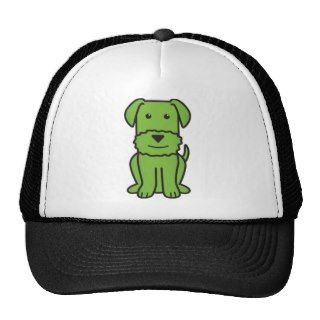 Airedale Terrier Dog Cartoon Mesh Hat