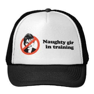 Naughty girl in training mesh hat