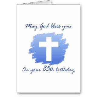 Christian 85th Birthday Card