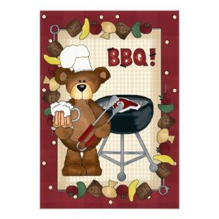 Cartoon Hillbilly BBQ RSVP card