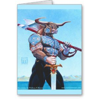 Daedalus Minotaur of Crete Greeting Card