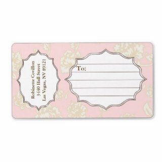 French Flowers Wrap Around Mailing Label