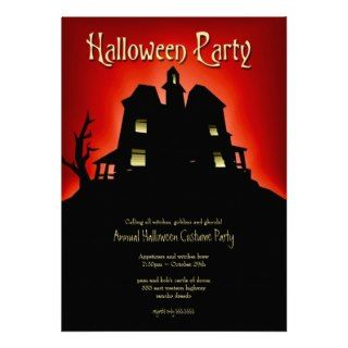 Haunted House Halloween Party Invites