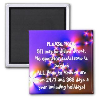 911 EMERGENCY Inspirational Christian Quote Art Refrigerator Magnets