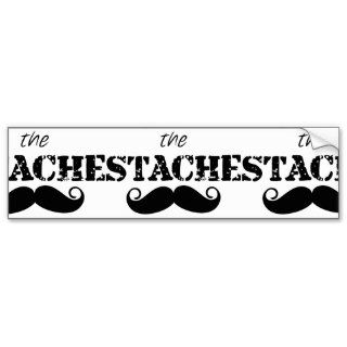 The Stache Mustache Retro Hipster Bumper Sticker