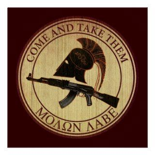 Molon Labe (Come and Take Them) Poster