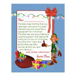 Letter Santa   Elf and toys Letterhead