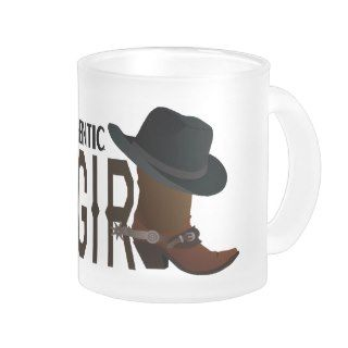 Genuine Authentic COWGIRL Boot & Hat Coffee Mug